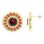 10K AAA Mozambique Garnet Gold Earrings (Molloy)