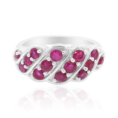Burmese Ruby Silver Ring