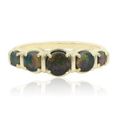 9K Lightning Ridge Black Opal Gold Ring
