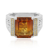 Madeira Citrine Silver Ring (Dallas Prince Designs)