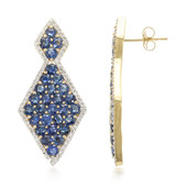 18K Burmese Sapphire Gold Earrings
