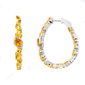 Citrine Silver Earrings (Dallas Prince Designs)