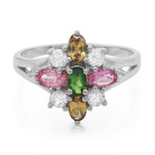 Chrome Tourmaline Silver Ring (Cavill)