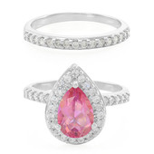 Rose Topaz Silver Ring