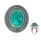 Kingman Blue Mojave Turquoise Silver Ring