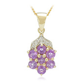 18K Unheated Ceylon Purple Sapphire Gold Necklace (AMAYANI)