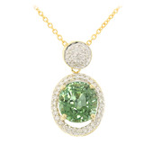 18K Paraiba Tourmaline Gold Necklace