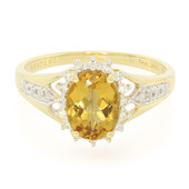 18K AAA Imperial Topaz Gold Ring