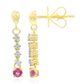 18K Red Beryl Gold Earrings