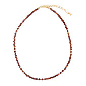 Hessonite Garnet Silver Necklace