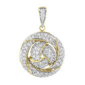 9K SI Diamond Gold Pendant
