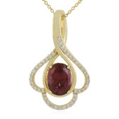 18K Mahogany Zircon Gold Necklace