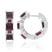 Rhodolite Silver Earrings (Remy Rotenier)