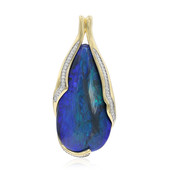 18K Lightning Ridge Black Opal Gold Pendant