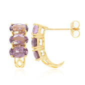 18K Mahenge Purple Spinel Gold Earrings