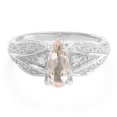 Nigerian Morganite Silver Ring