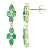 9K Bahia Emerald Gold Earrings