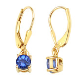 18K AAA Tanzanite Gold Earrings