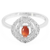 Mexican Fire Opal Silver Ring