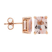 14K AAA Morganite Gold Earrings