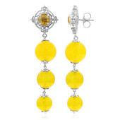 Yellow Agate Silver Earrings (Dallas Prince Designs)
