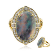 18K Lightning Ridge Black Opal Gold Ring