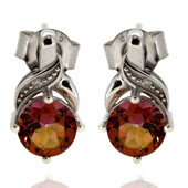 Sunset Topaz Silver Earrings