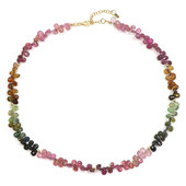 Fancy Tourmaline Silver Necklace