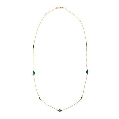 9K Turquoise Gold Necklace