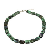 Azurite Malachite Silver Necklace