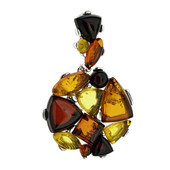 Baltic Amber Silver Pendant