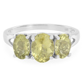 Lemon Apatite Silver Ring