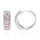 18K SI Pink Diamond Gold Earrings (CIRARI)