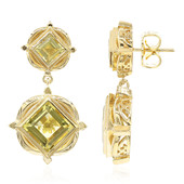Ouro Verde Quartz Silver Earrings (Memories by Vincent)