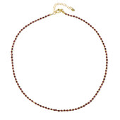 Mozambique Garnet Silver Necklace