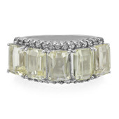 Canary Kunzite Silver Ring