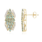 18K Brazilian Alexandrite Gold Earrings