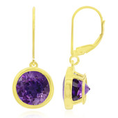 9K Uruguayan Amethyst Gold Earrings