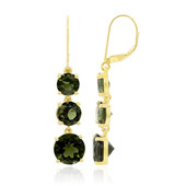9K Moldavite Gold Earrings