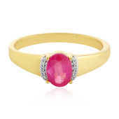 Madagascar Pink Sapphire Silver Ring