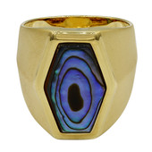 Abalone Shell Silver Ring (MONOSONO COLLECTION)