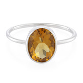 Cognac Quartz Silver Ring (MONOSONO COLLECTION)