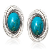Mine 8 Turquoise Silver Earrings