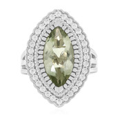 Green Amethyst Silver Ring (Memories by Vincent)