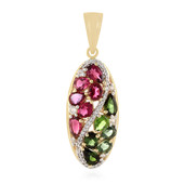 9K Green Tourmaline Gold Pendant
