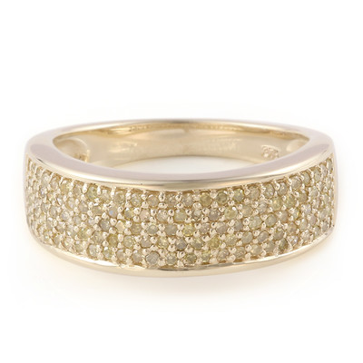 9K Golden Yellow Diamond Gold Ring