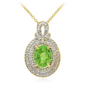 18K Tanzanian Tsavorite Gold Necklace