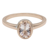 Morganite Silver Ring