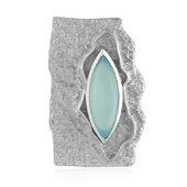 Aqua Chalcedony Silver Pendant (MONOSONO COLLECTION)