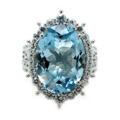 Sky Blue Topaz Silver Ring (Dallas Prince Designs)